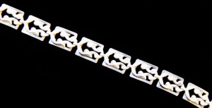"Danecraft sterling bracelet, 7 3/4"" length"