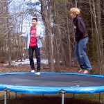 Hanging out on the trampoline