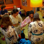 Students dressing up in yukata